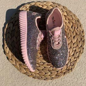 2 for $30! Womens glitter pink sneaker